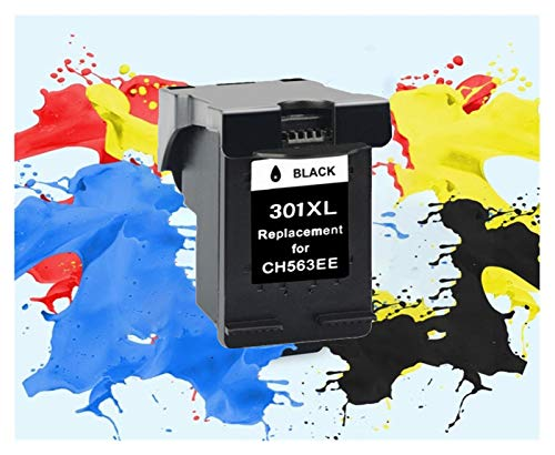TZZD Cartucho 301XL 3Pack Compatible for HP 301 XL for hp301 Cartucho de Tinta for HP Envy 5530 Deskjet 2050 2540 2510 1000 1050 Impresora (Color : 1PCS BK)