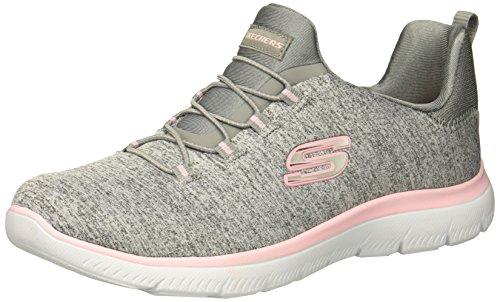 Skechers Sport Women's Summits Sneaker,grey light pink,8.5 M US