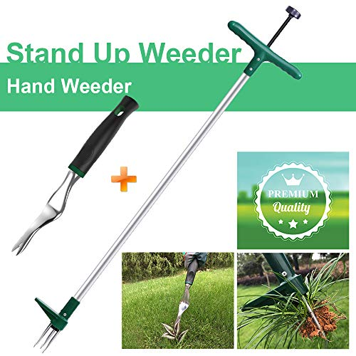 Best Price! Walensee Stand Up Weeder and Weed Puller, Stand up Manual Weeder Hand Tool with 3 Claws,...