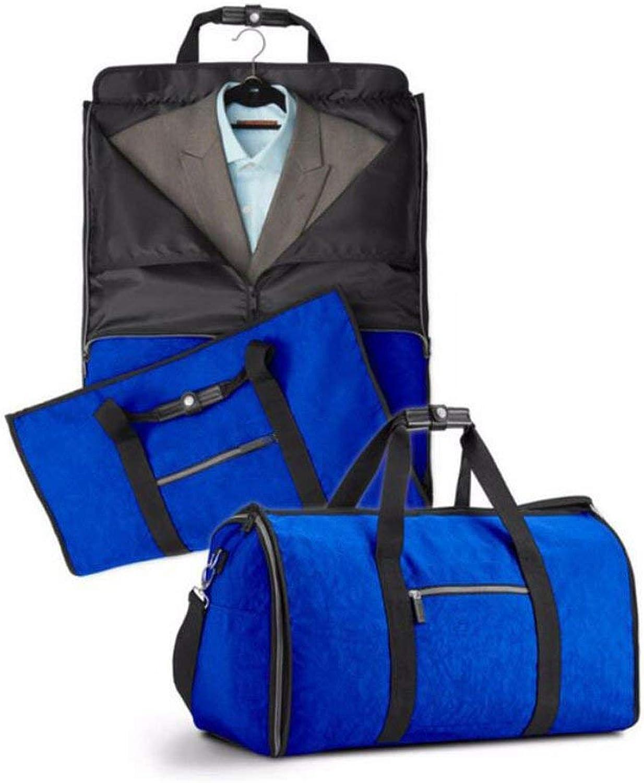 Climb Backpack High Capacity Fold Waterproof Suit Travel Bag Multifunction Handbag Clothing Travel Bag,blueee (color   blueee)