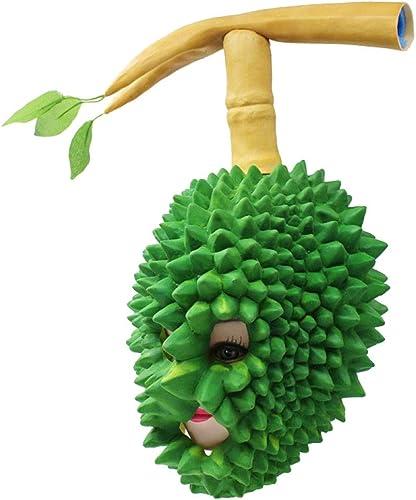 ¡no ser extrañado! ZAIYI-Mask ZAIYI-Mask ZAIYI-Mask Máscaras De Halloween Látex Fruta verde Durian Máscara Cosplay Vestir Atrezzo Party Role Play,verde-OneTalla  descuentos y mas