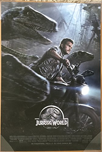 JURASSIC WORLD MOVIE POSTER 2 Sided ORIGINAL FINAL 27x40 CHRIS PRATT JUDY GREER