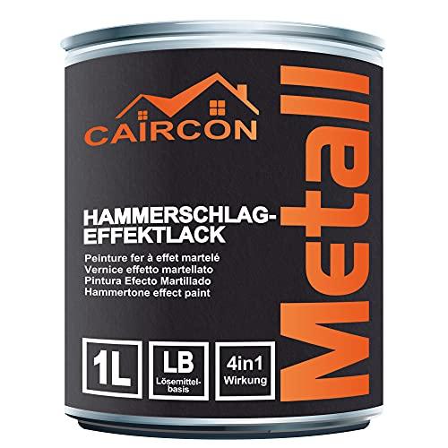 Metallfarbe Hammerschlag Effektlack Metalllack Hammerschlaglack Anthrazitgrau - 1L