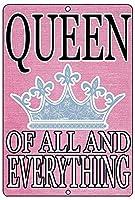 すべてとすべての女王 金属板ブリキ看板警告サイン注意サイン表示パネル情報サイン金属安全サイン