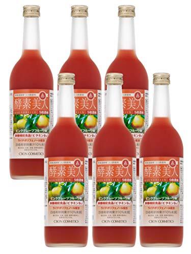 シーボン酵素美人 赤(ピンクグレープフルーツ味)6本セット5倍濃縮720ml【送料無料】