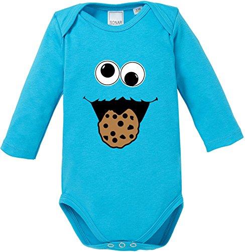 EZYshirt® Cookie Monster Baby Body Longsleeve Bio Baumwolle