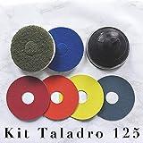 Kit Taladro 125 mm micro pulido y abrillantado para mármol y terrazo