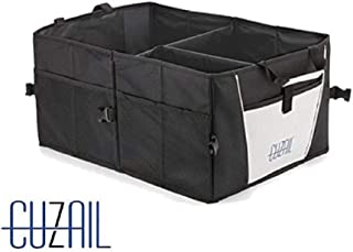 CUZAIL Car Trunk Organizer for SUV - Truck - Van - Auto Organizer- Collapsible Cargo Storage- Multi Compartments - Foldable -
