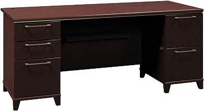 Bush Double Pedestal Desk, 70-1/8-Inch by 28-1/2-Inch by 29-5/8-Inch, Mocha