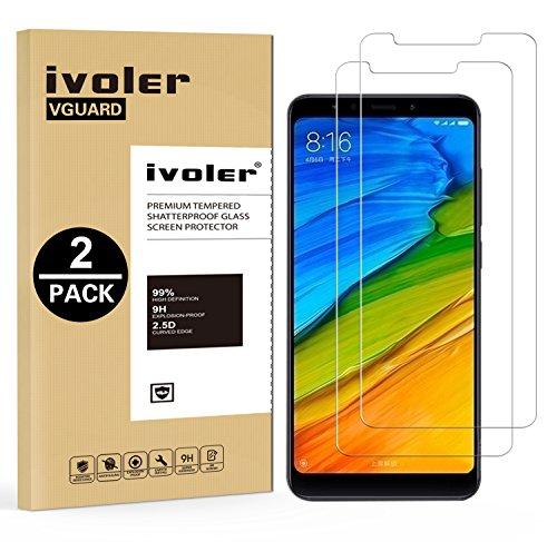 iVoler [2 Pack] Pellicola Vetro Temperato per Xiaomi Redmi 5, Pellicola Protettiva, Protezione per Schermo