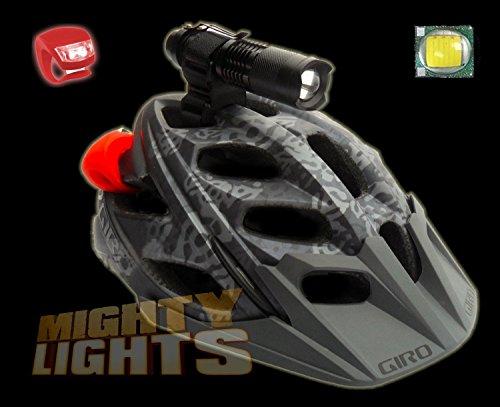 Forrader MINI Cree XML-T6 MTB lumières casque montage lampe torche projecteur + 18650 + kit silicone charge LED