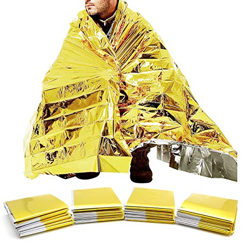 GoodsLand 【 4枚 セット 】 サバイバルシート 防寒 保温シート 防水 軽量 サバイバルブランケット エマージェンシーシート 防災グッズ 防災用品 GD-SVSEAT