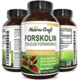 Natures Craft Pure Forskolin Extract - Fat Burning & Metabolism Boosting Weight Loss Supplement - Natural Pills for Women & Men