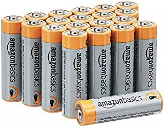AmazonBasics AA 1.5 Volt Performance Alkaline Batteries – Pack of 20 (Appearance may vary)
