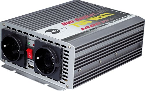 Wechselrichter 24 V DC/230 V AC 50 Hz - 700 Watt Dauerleistung 1.400 Watt kurzfristige Spitzenleistung, USB 5