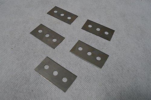 5 Ersatzklingen 7288 für Glasschaber Star 7287 Ceranfeld Cerankochfeld Schaber Glas Kochfeldschaber