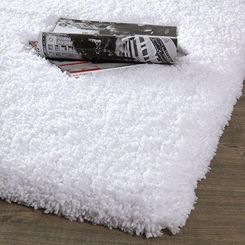 NORCHO Soft Microfiber Non-Slip Rubber Luxury Area Rug for Livingroom Bedroom Bathroom Decor Machine Washable 2.6 x 3.9ft /80 x 120cm White