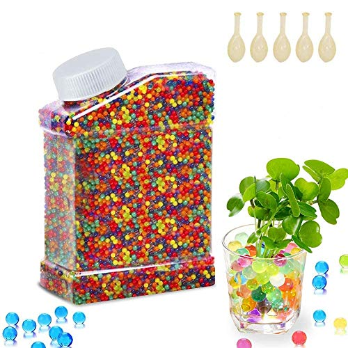 iXsound 55000PCS Palline Gel per Piante, Perline in Gel Acqua per Vasi Piante Perle d'Acqua Colorate Water Gel Beads Cristalli Palline Natale Vasi Gel Idroretentore Aqua Gel Natale Decorazioni