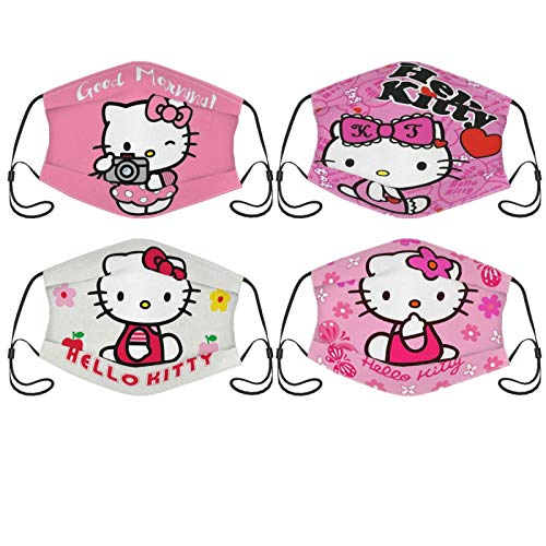 BOLDROLE Hello Kitty Face Mask with Filters Activated Carbon Cover