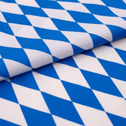 Stoff Meterware Bayernraute Weiß Blau Baumwolle (Bayern, Deko, Halstuch, Tischdecke, Vorhang, Fahne, Flagge)
