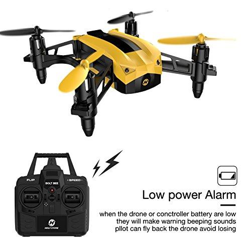 Holy Stone HS150 Bolt Bee Mini Drone de carreras RC Quadcopter RTF 2.4GHz 6-Axis Gyro con 50KMH de ...