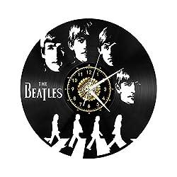 Zhangxin The Beatles Vinyl Record Wall Clock Fan Art Decor Original Gift Unique Decorative Vinyl Clock Black 12 (30 cm),D