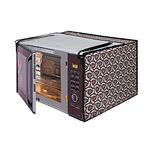 Glassiano Microwave Oven Cover for Morphy Richards 25 Litre Convection Microwave Oven 25 CG, Silver