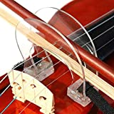 Alomejor Violin Bow Corrector Violin Bow Collimator Guilding Tool with Adjustable Strap for Beginner Training Practice(1/2-4/4)