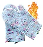 ByChefCD Professional Silicone Oven Mitts/Heat Resistant Gloves Non-Slip Professional Cooking Gloves, Kitchen Potholders and Oven Mitts, Grill Gloves Heat Resistant, Black