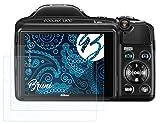 Bruni Película Protectora Compatible con Nikon Coolpix L830 Protector Película, Claro Lámina...