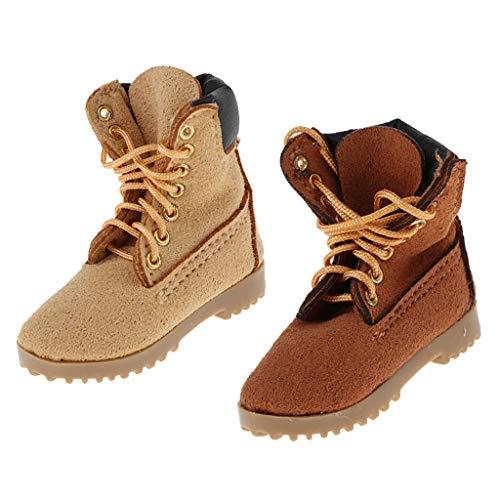 perfeclan 2 Pares de Zapatos / Botas de Combate para Hombre a Escala 1: 6 para Cuerpo de Muñecas Calientes de Soldado de 12 Pulgadas