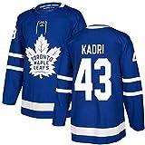 ZRHXN Camiseta de Hockey Toronto Maple Leafs # 43 Camiseta Kadri, Camiseta de Ventilador, Ropa Deportiva Transpirable Monumento A Los Fanáticos,XXL