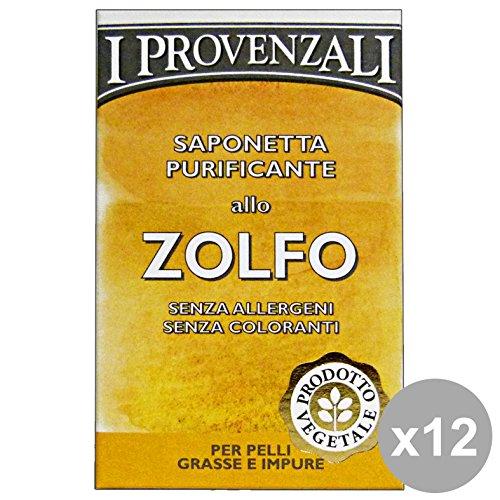 Les provençal Set 12 soufre Savon 100 gr. Les savons et cosmétiques