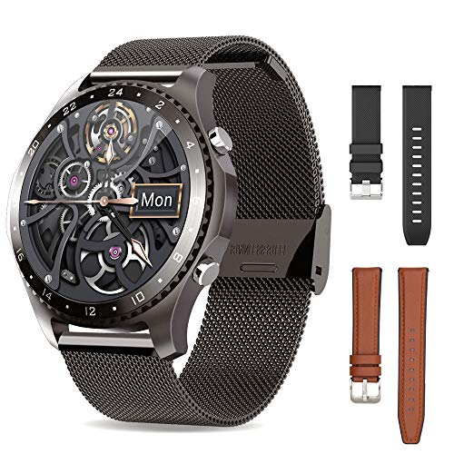 SmartWatch with 3 Bands,Android SmartWatch for Man,Call and Message...