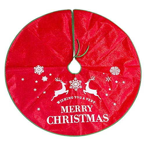 NLRHH Mode Weihnachtsbaumrock Chic Leinen-Teppichboden-Matte-Abdeckung for Neujahrsboden-Deckung Home Party Decor (Farbe: f) Peng (Color : F)