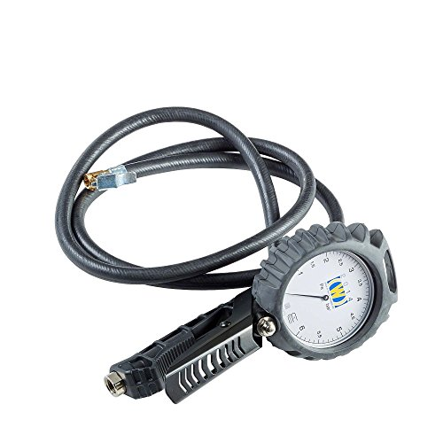 Hofmann Power Weight Inflador de neumáticos para Turismo Wonder 2014 | Regulador con manómetro analógico, manometro de presion | Pistola Aire