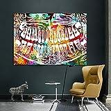 PLWCVERS Colorful Tooth Laugh Dental Dentist Arte de la Pared Pintura en Lienzo Carteles Impresiones Decoración de Pared para educación médica Oficina Decoración del hogar / 60x80cm (Sin Marco)