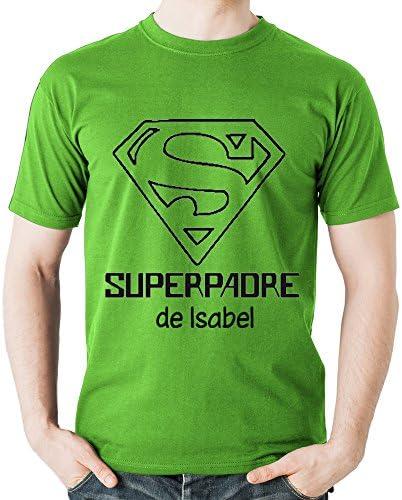 Camiseta Personalizada  Superpadre  Verde en Todas Las Tallas - Regalo para el Día del Padre Navidad o su cumpleaños