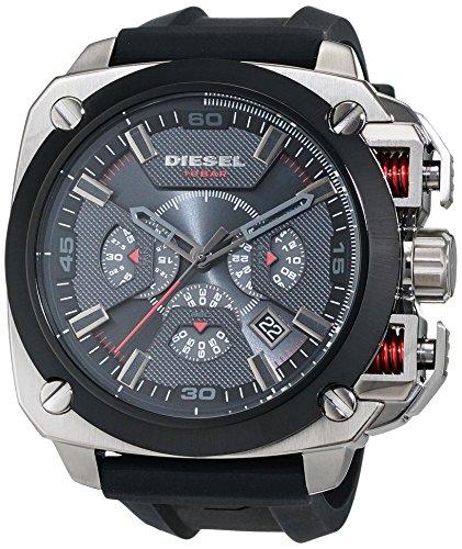 Diesel Herren-Armbanduhr BAMF Analog Quarz Silikon DZ7356
