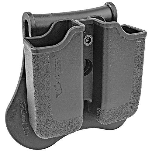 Taurus 24/7 Dual Magazine Pouch, Fits: Beretta Px4; H&K P30; H&K USP Compact (9/40); Ruger SR9; Steyr M Series; S&W Sigma; Taurus 24/7, PT845, PT840 Magazines.