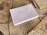 Wanderings Sobres blancos hechos a mano, 130 g/m², 13,25 x 18,4 cm, para anuncios, invitaciones de boda, tarjetas de felicitación, manualidades