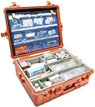 Pelican Products 1600-005-150 1600EMS Large Case with Multi-Layer Lid Organizer and Padded Dividers (Orange)