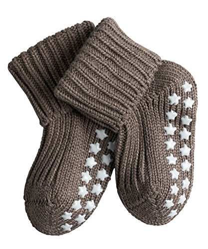 FALKE Baby Socken Catspads Cotton, 1 Paar, Braun (Pebble 5810), 80-92