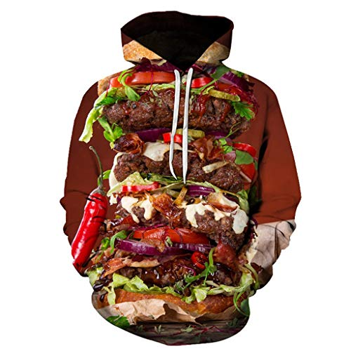 YXIU Herren Hoodie Herren Kapuzenpullover Ugly 3D Druck Kapuzenpullover Winter Frühling Pullover Hoodie Sweatshirt