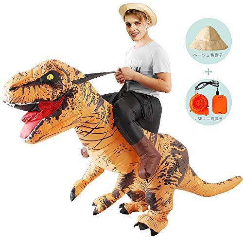 パーティー 恐竜 着ぐるみ コスチューム 恐竜コスプレ ライダー服恐竜 大人用 男女共用 怪獣 空気充填 膨張式 衣装セットキャラクター扮衣装 イベント USB携帶充電サポートです