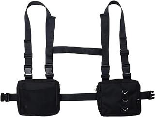 NEDVI Men Women Fashion Chest Front Bag Hip Hop Streetwear Functional Waist Packs Bag Adjustable Tactical Shoulder Bags Chest Rig Bag