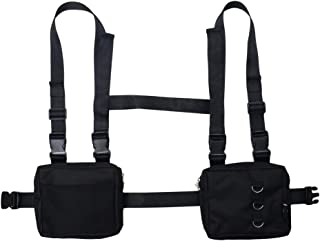 Men Women Fashion Chest Front Bag Hip Hop Streetwear Functional Waist Packs Bag Adjustable Tactical Shoulder Bags Chest Rig Bag