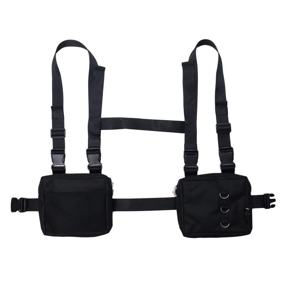 EFINNY Chest Rig Bag Hombres Mujeres Chest Front Bag Hip Hop Funcional Cintura Packs Bag Tactical Shoulder Bag Chest Rig Bag: Amazon.es: Deportes y aire libre