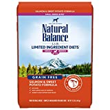 Natural Balance L.I.D. Limited Ingredient Diets Small Breed Bites Dry Dog Food, Salmon & Sweet Potato Formula, 12 Pounds