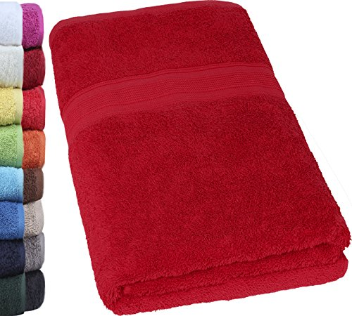 NatureMark - Toalla para Sauna (80 x 200 cm, 100 % algodón,, 100 % algodón, Rojo Burdeos, 80 x 200 cm